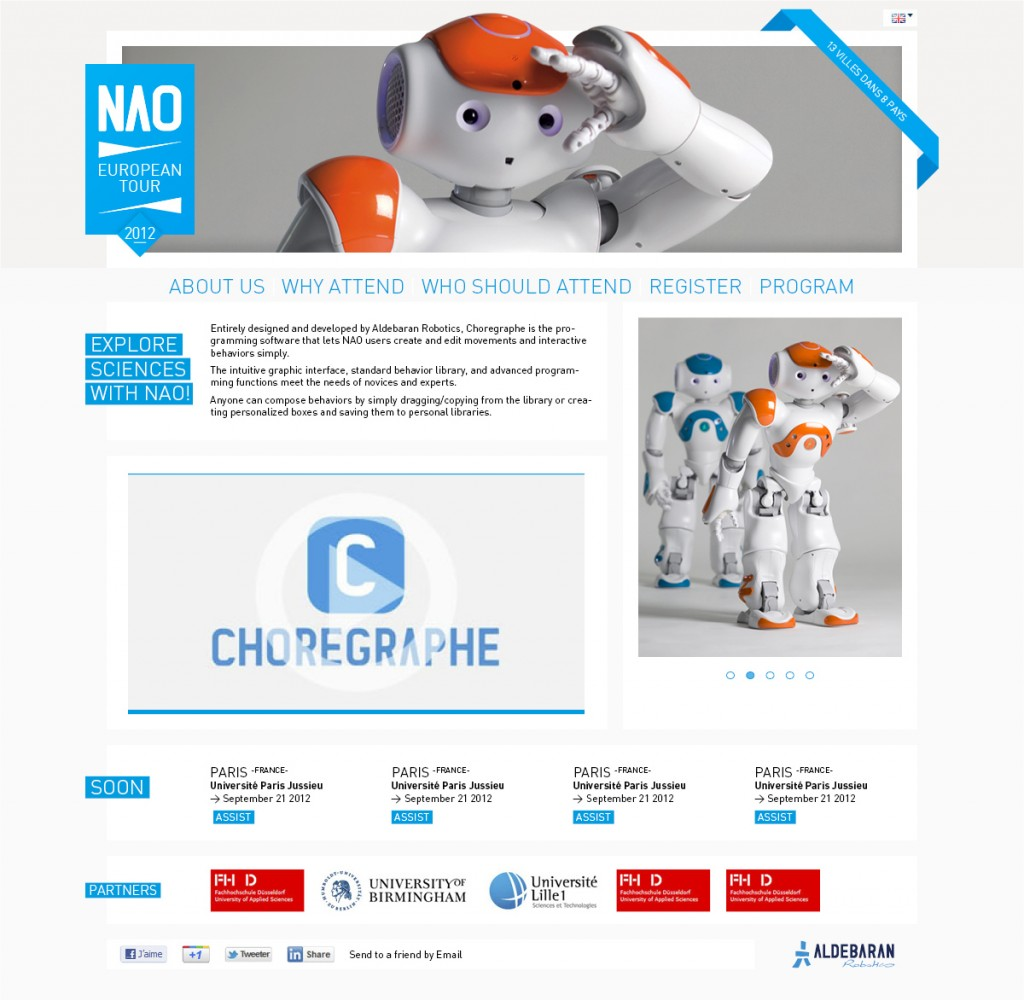 Romain Belotti - Graphiste à Lyon Meet NAO!       Webdesign